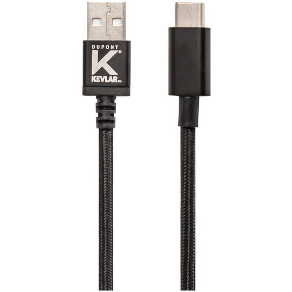 Kevlar(R) KV574 2.0 USB-A to USB-C(TM) Cable, 6ft