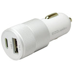 EZQuest X40012 Dual-Port USB-C(TM)-USB Car Charger