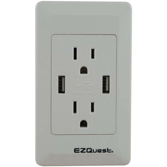 EZQuest X73692 2.1-Amp Plug & Charge USB Wall Socket Charger