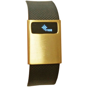 Funktional Wearables BASICCOVER-BRGLD Basic Cover for Fitbit Charge-Charge HR (Brushed Gold)