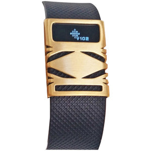 Funktional Wearables GEOCOVER-BRGLD Geo Cover for Fitbit Charge-Charge HR (Brushed Gold)
