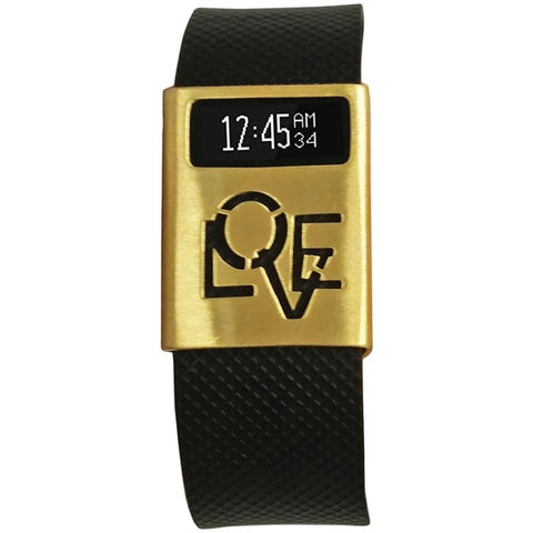 Funktional Wearables LOVERULCOVER-BRGLD Love Rules Cover for Fitbit Charge-Charge HR (Brushed Gold)