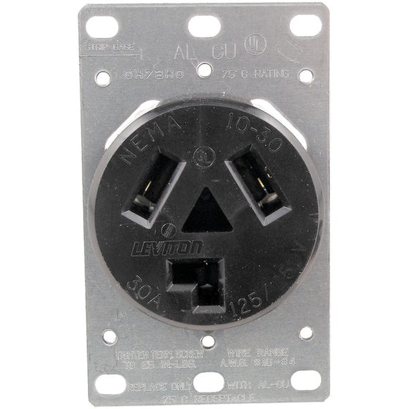 No Logo 5207 Single Flush Dryer Receptacle (3 wire)