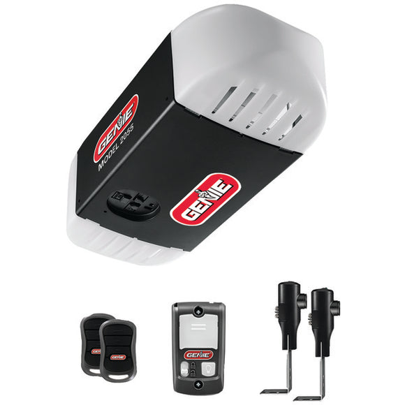 Genie(TM) 2055-TKV 1-2 HP DC Motor Chain-Drive Garage Door Opener with 2 Remotes, Wall Console, Wireless Keypad & Safe-T Beams