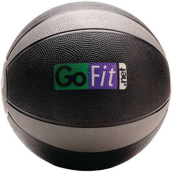GoFit(R) GF-MB12 Medicine Ball (12lbs; Black & Gray)