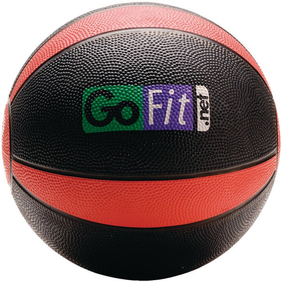 GoFit(R) GF-MB8 Medicine Ball (8lbs; Black & Red)