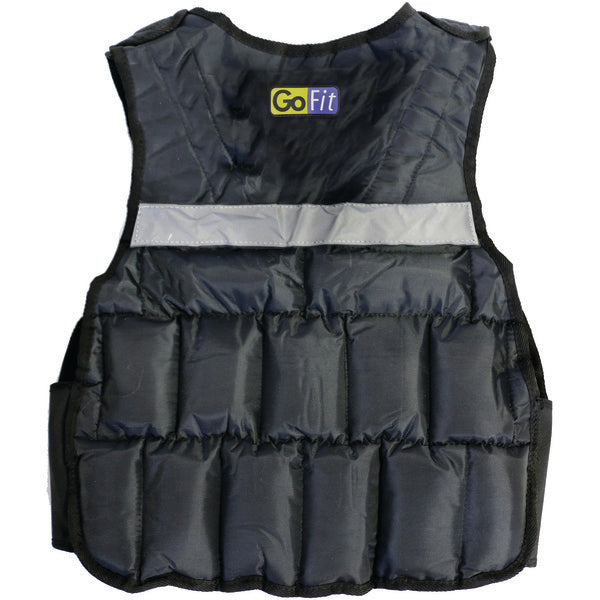 GoFit GF-WV20 Unisex Adjustable Weighted Vest (20lbs)