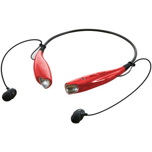 iLive iAEB25R Bluetooth(R) Neckband & Earbuds (Red)