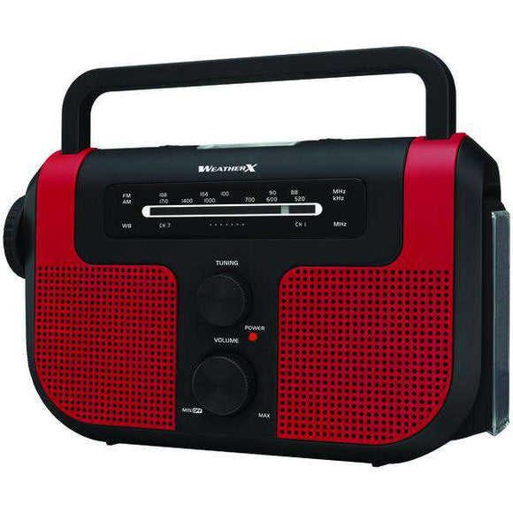 WeatherX(R) WR383R AM-FM-Weather Radio with Flashlight