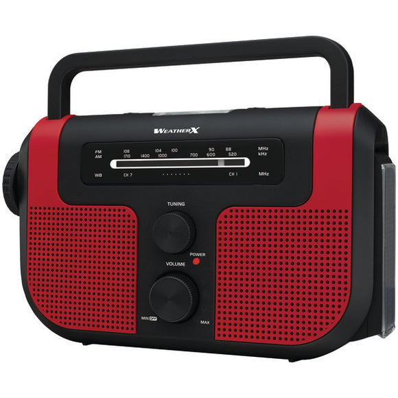 AM-FM-NOAA(R) Weather Crank Radio