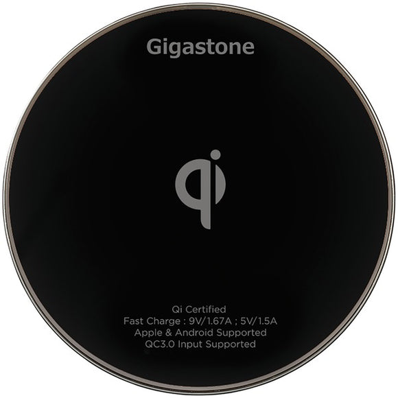 Gigastone GS-GA-9600B-R GA-9600 Qi Certified Fast Wireless Charger (Black)