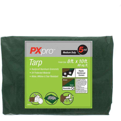 World and Main PXPMDT810 Medium-Duty Tarp (8ft x 10ft)