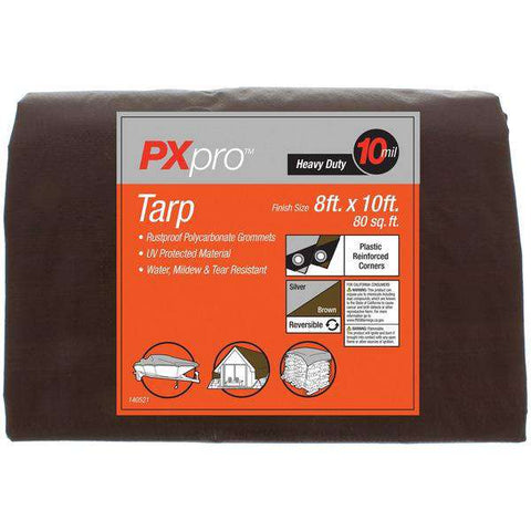World and Main PXPHDT810 Heavy-Duty Tarp (8ft x 10ft)
