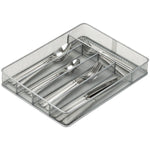 Honey-Can-Do(R) KCH-02154 5-Compartment Steel Mesh Cutlery Tray