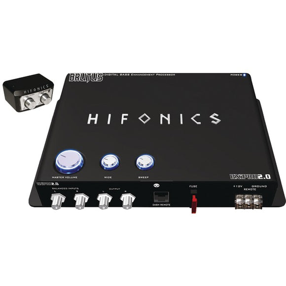 Hifonics(R) BXIPRO 2.0 BXiPro 2.0 Digital Bass Enhancement Processor with Noise-Reduction Circuit