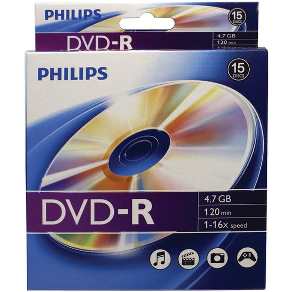 Philips(r) Philips(R) DM4S6B10B 17 4.7GB 16x DVD Rs, 10 ct Peggable Box