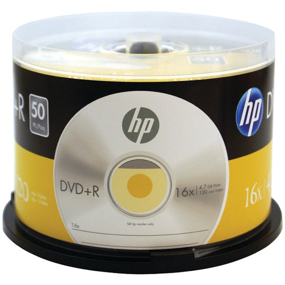HP(R) DR16050CB 4.7GB 16x DVD+Rs (50-ct Cake Box Spindle)