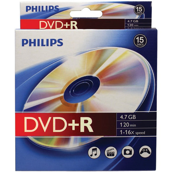 Philips(r) Philips(R) DR4S6B10B 17 4.7GB 16x DVD+Rs, 10 pk Peggable Box
