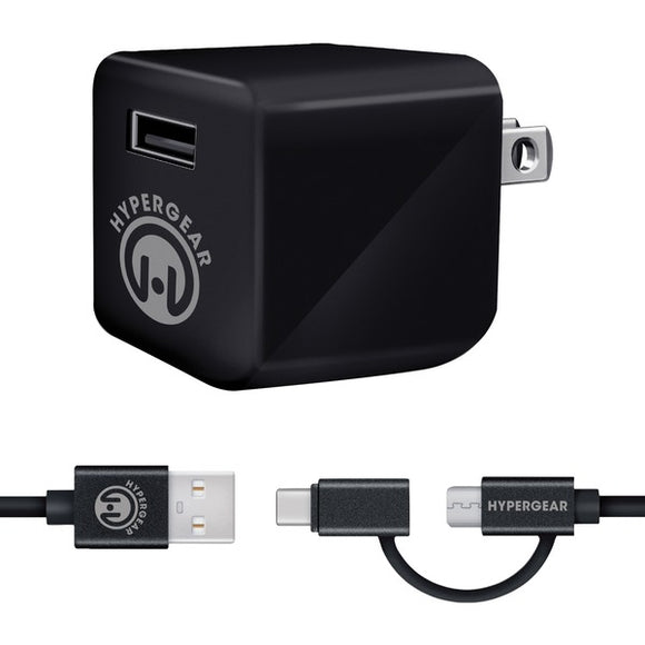 HyperGear 14081 Rapid Wall Kit with Micro USB + USB-C Cable