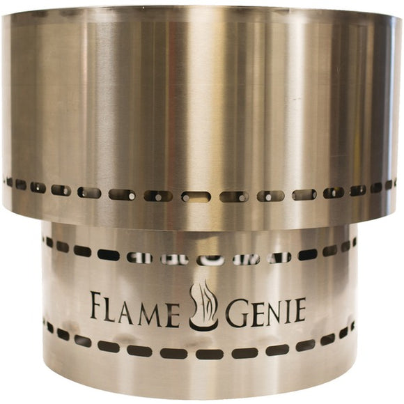 FlameGenie(TM) FG-19-SS Flame Genie INFERNO(TM) Wood Pellet Fire Pit (Stainless Steel)