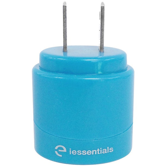 iEssentials(R) IE-ACP2U-BL 2.1-Amp Dual-USB Home Charger (Blue)