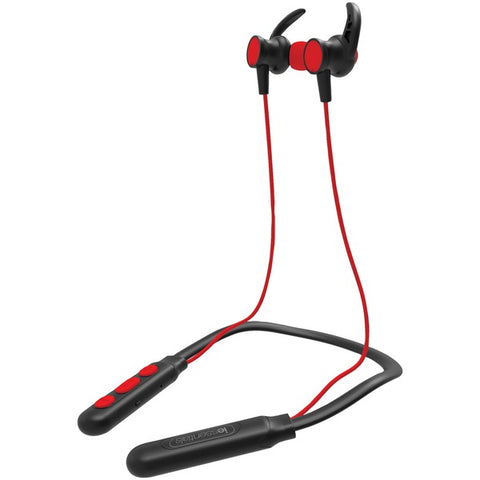 iEssentials IEN-BTEFX-RD Flex Neck Band Sport Series Bluetooth Earbuds with Microphone (Red)