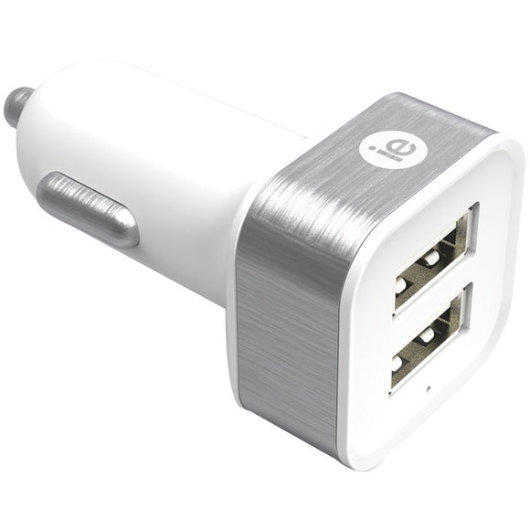2.4-Amp Dual USB Car Charger (White)
