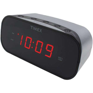 "Timex(R) Audio T121S Alarm Clock with .7"" Red Display (Silver)"
