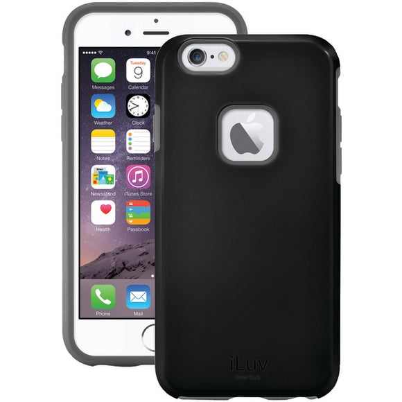 iLuv AI6PREGABK Regatta Case for iPhone 6 Plus-6s Plus (Black)