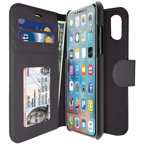 iLuv AIXDIARBK Diary Case for iPhone X (Black)