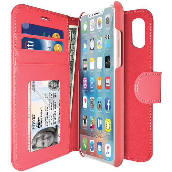 iLuv AIXDIARPN Diary Case for iPhone X (Pink)