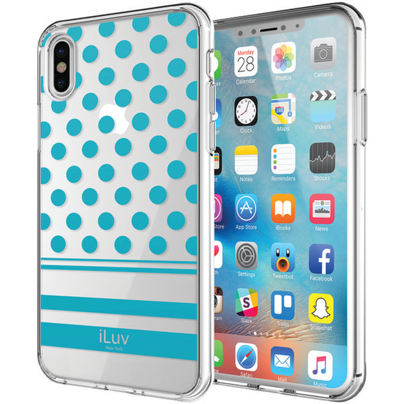 iLuv AIXDOTBL DotStyle Case for iPhone X (Blue)