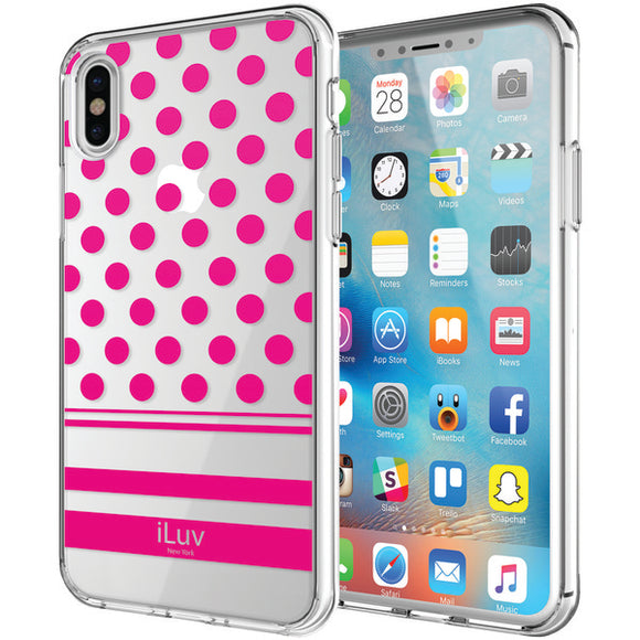 iLuv AIXDOTPN DotStyle Case for iPhone X (Pink)