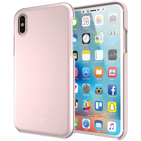 iLuv AIXMETFPN Metal Forge Protective Case for iPhone X (Pink)
