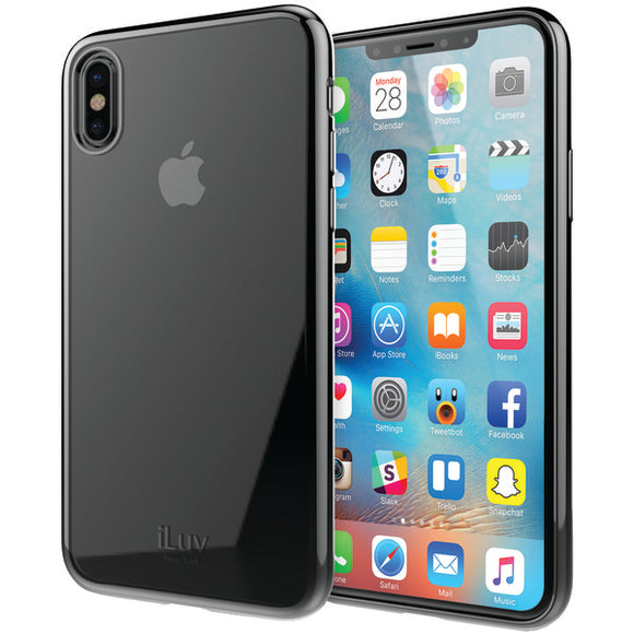 iLuv AIXMTBK Metal Care Soft Case for iPhone X (Black)