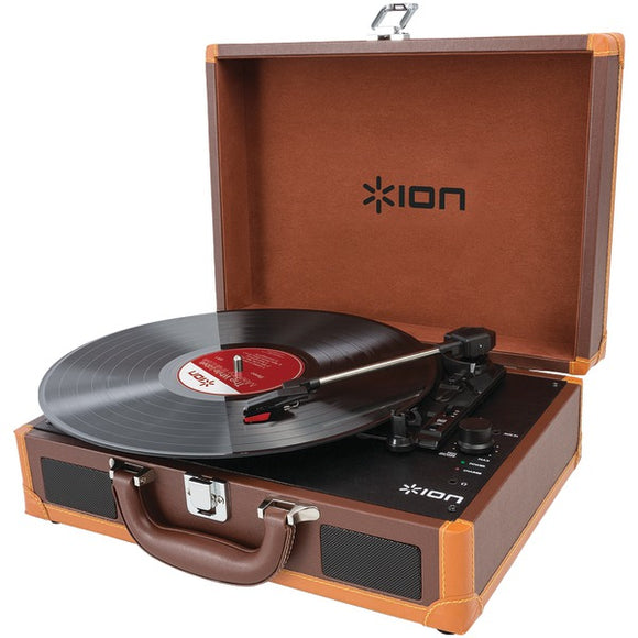 ION(R) iT45DX Vinyl Motion Deluxe Portable Turntable with Case