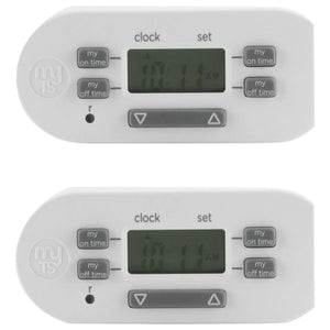 My Touchsmart(tm) My TouchSmart(TM) 26745 Plug in Single Outlet Polarized Bar Timer, 2 pk