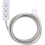 Cordinate Cordinate 37914 3 Outlet Grounded Surge Protector, 10ft Cord (Gray White)