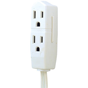 GE JASHEP50669 3-Outlet Grounded Office Cord, 8ft (White)