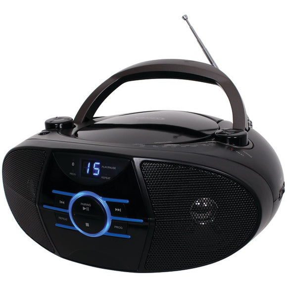 JENSEN(R) CD-560 Portable Stereo CD Player with AM-FM Stereo Radio & Bluetooth(R)
