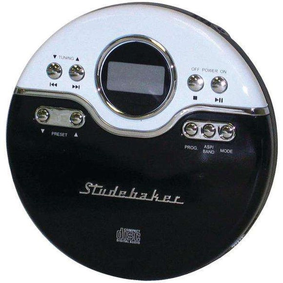 Studebaker SB3703BW Personal Jogging CD Player with FM PLL Radio (Black-White)
