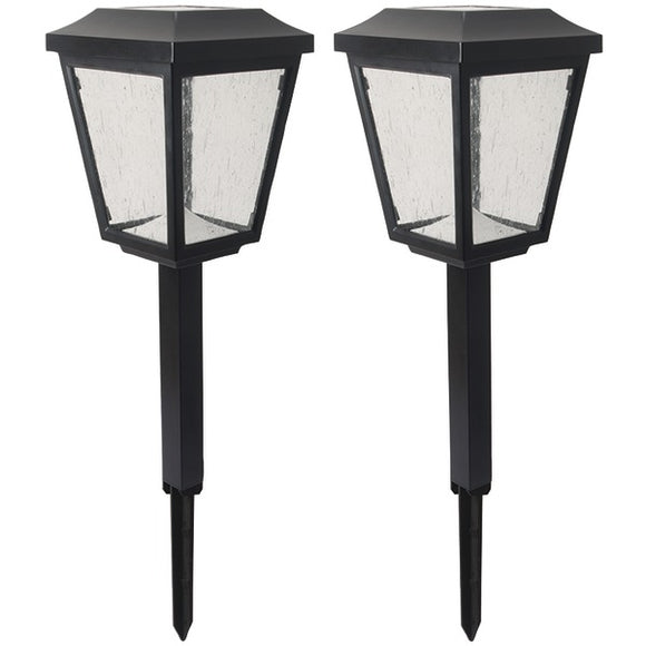 Duracell(r) Duracell(R) D QM5PD P2 BK 2 Solar LED Pathway Light, 2 pk