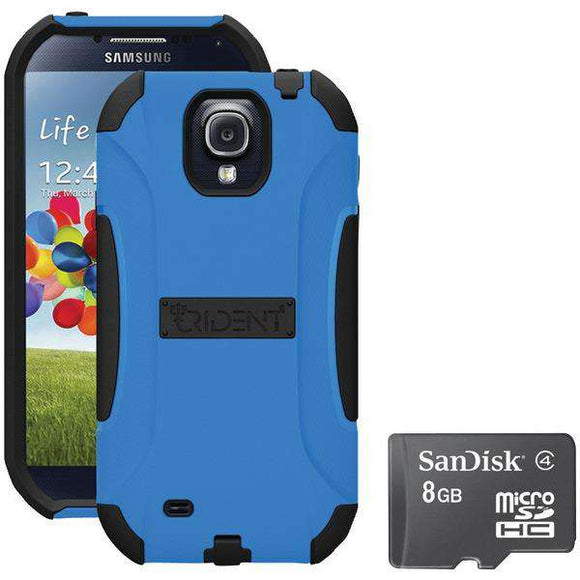 Trident S4 Aegis Case Blue With Sandisk Micro Sd 8gb