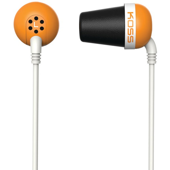 KOSS(R) 185349 Plug In-Ear Earbuds (Orange)