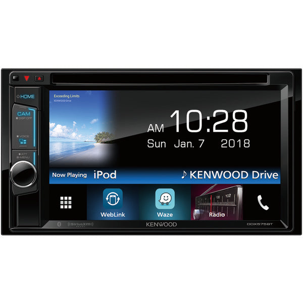 "KENWOOD DDX575BT 6.2"" Double-DIN In-Dash DVD Receiver with Bluetooth & SiriusXM Ready"