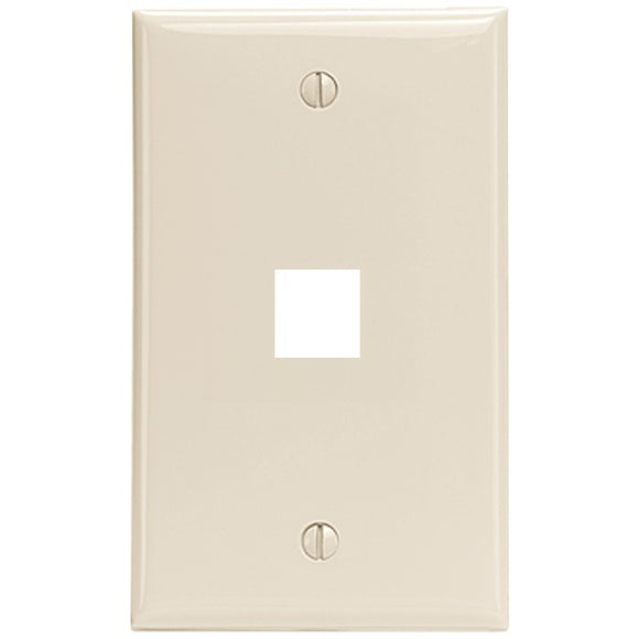 Leviton 41080-1TP 1-Port QuickPort Wall Plate (Light Almond)