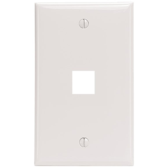 Leviton 41080-1WP 1-Port QuickPort Wall Plate (White)