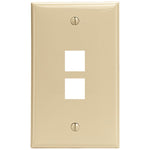 Leviton 41080-2IP 2-Port QuickPort Wall Plate (Ivory)