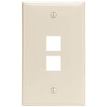 Leviton 41080-2TP 2-Port QuickPort Wall Plate (Light Almond)