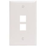 Leviton 41080-2WP 2-Port QuickPort Wall Plate (White)